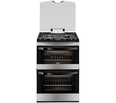 ZANUSSI ZCG63330XA Gas Cooker - Stainless Steel & Black