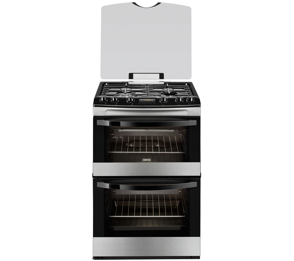 ZANUSSI ZCG63330XA Gas Cooker - Stainless Steel & Black
