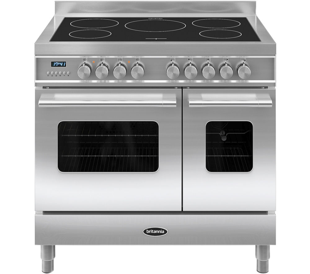 britannia delphi 90 twin electric induction range cooker. Black Bedroom Furniture Sets. Home Design Ideas