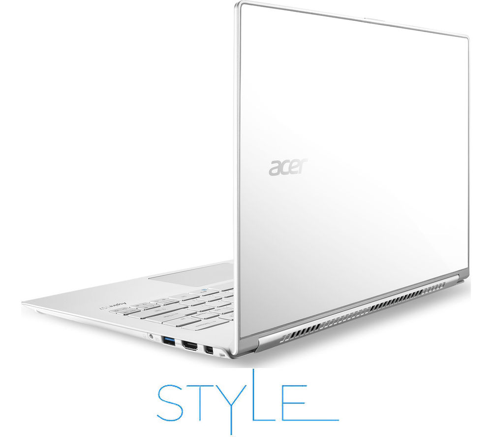 "Image of Acer Aspire S7-393 13.3"" Touchscreen Laptop - White, White"