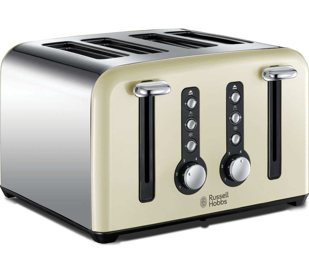 RUSSELL HOBBS Windsor 22830 4-Slice Toaster - Cream + Windsor 22820 Jug Kettle - Cream