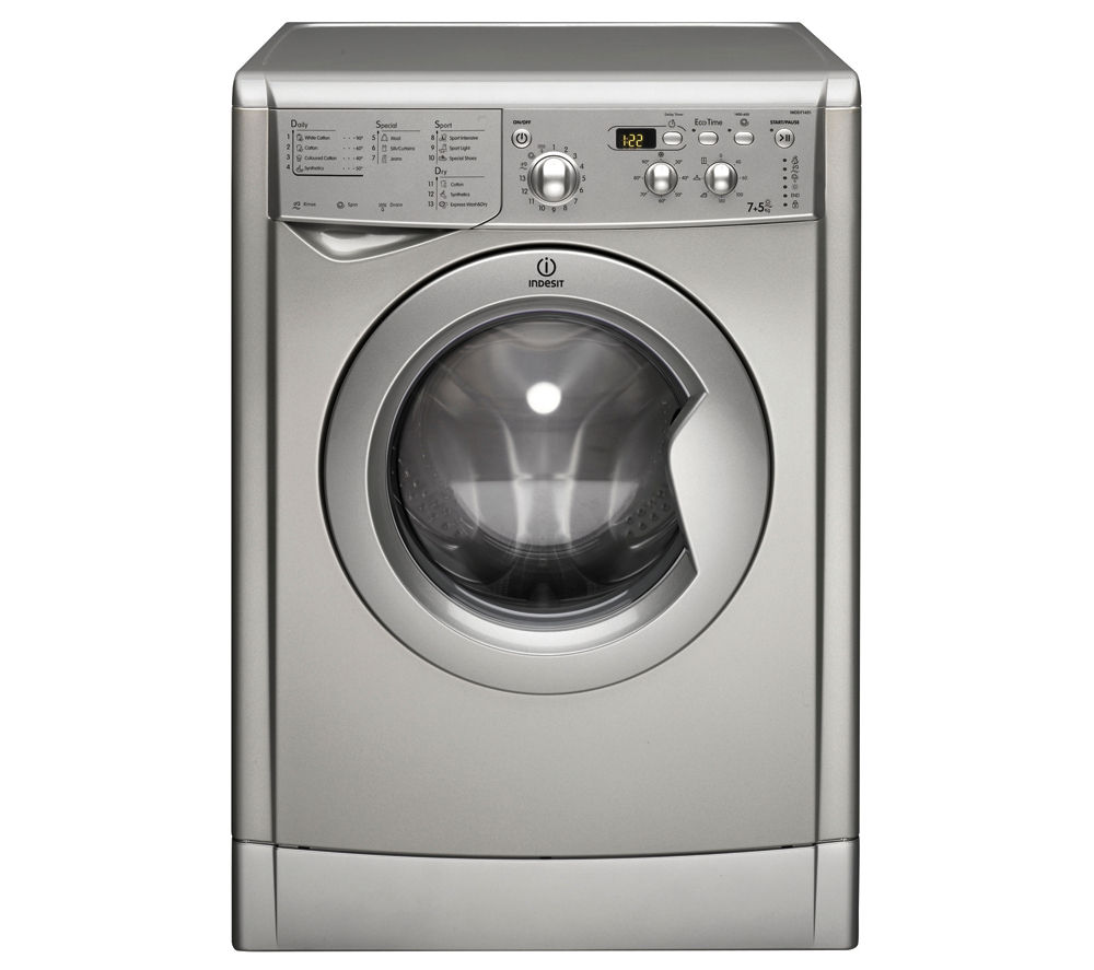 Buy INDESIT Ecotime IWDD7143S Washer Dryer - Silver