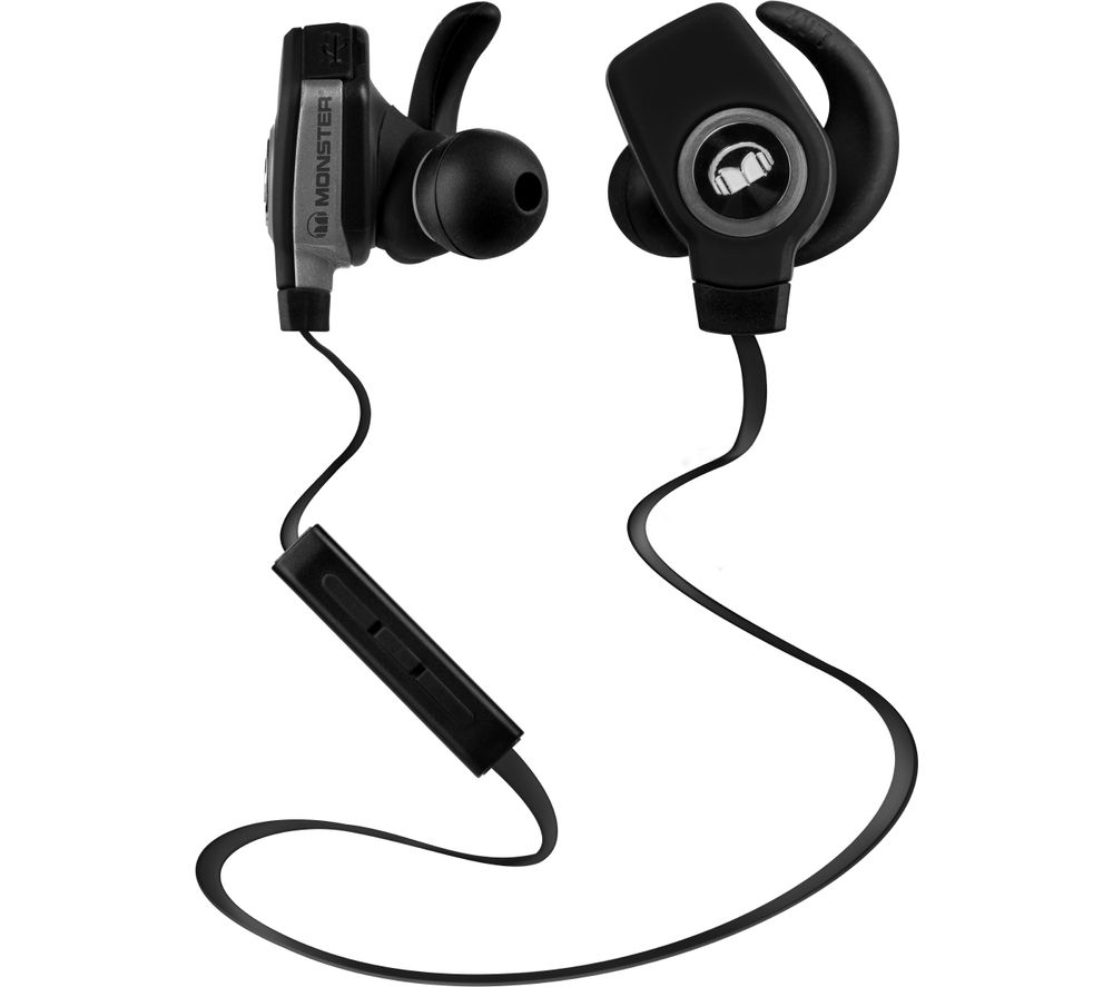Click to view more of MONSTER  iSport SuperSlim Wireless Bluetooth Headphones – Black, Black