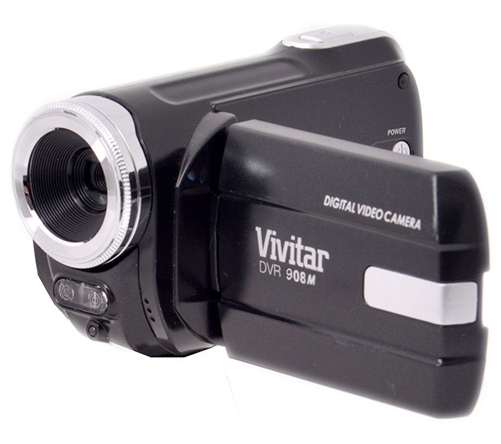 VIVITAR DVR908MFD Traditional Camcorder - Black