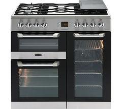 LEISURE Cuisinemaster 90 Dual Fuel Range Cooker - Stainless Steel