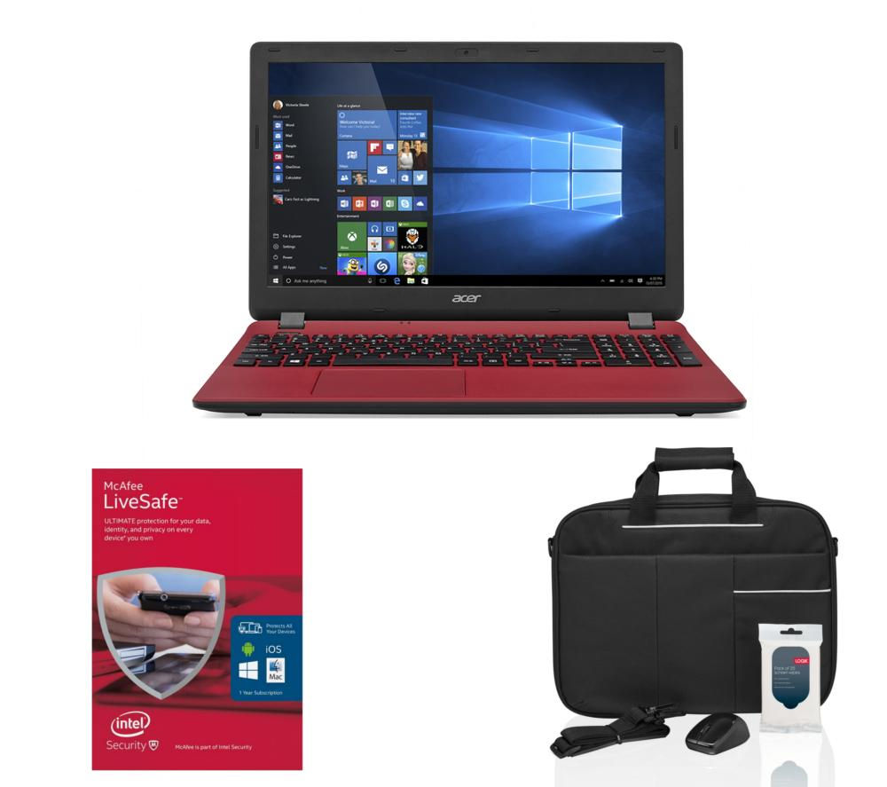 "Image of Aspire ES1-531 15.6"" Laptop - Red, Red"