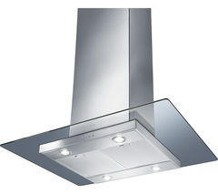 SMEG KEIV90E Chimney Cooker Hood - Stainless Steel & Glass