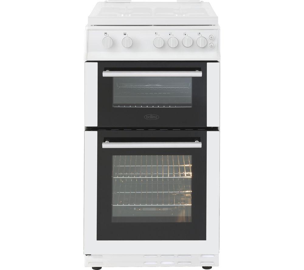 BELLING FS50GTCL 50 cm Gas Cooker - White & Black