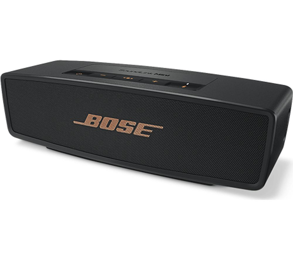 Click to view more of BOSE  SoundLink Mini Bluetooth Speaker II - Limited Edition, Black & Copper, Black
