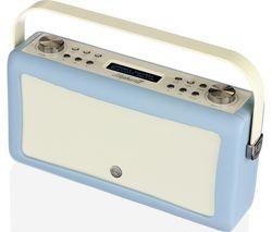 VQ Hepburn Mk II Portable DAB+/FM Bluetooth Clock Radio - Blue