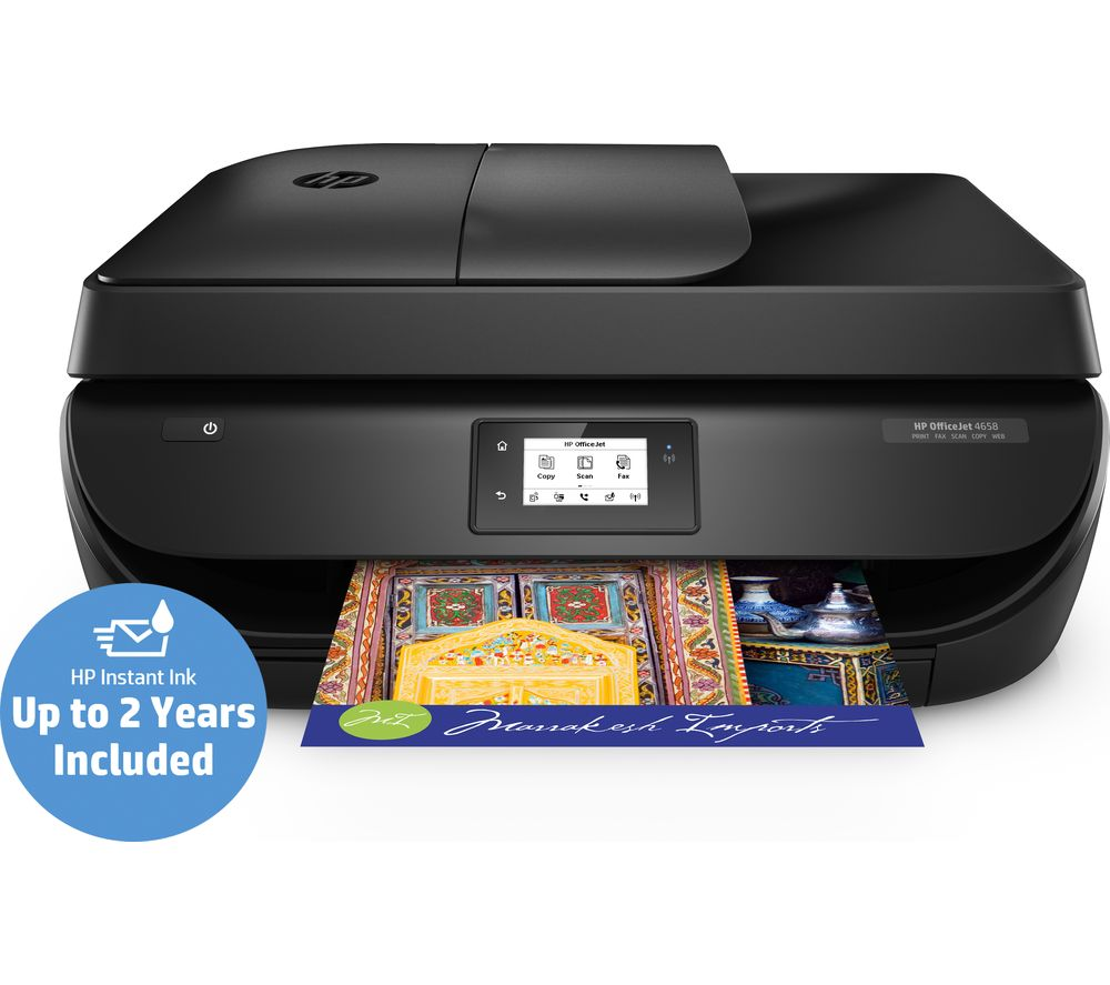 HP OfficeJet 4658 All-in-One Wireless Inkjet Printer with ...