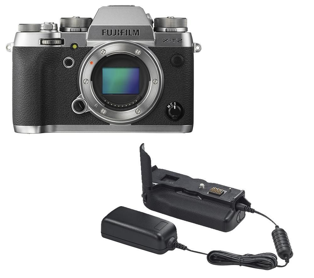 FUJIFILM X-T2 Compact System Camera with Vertical Battery Grip Bundle