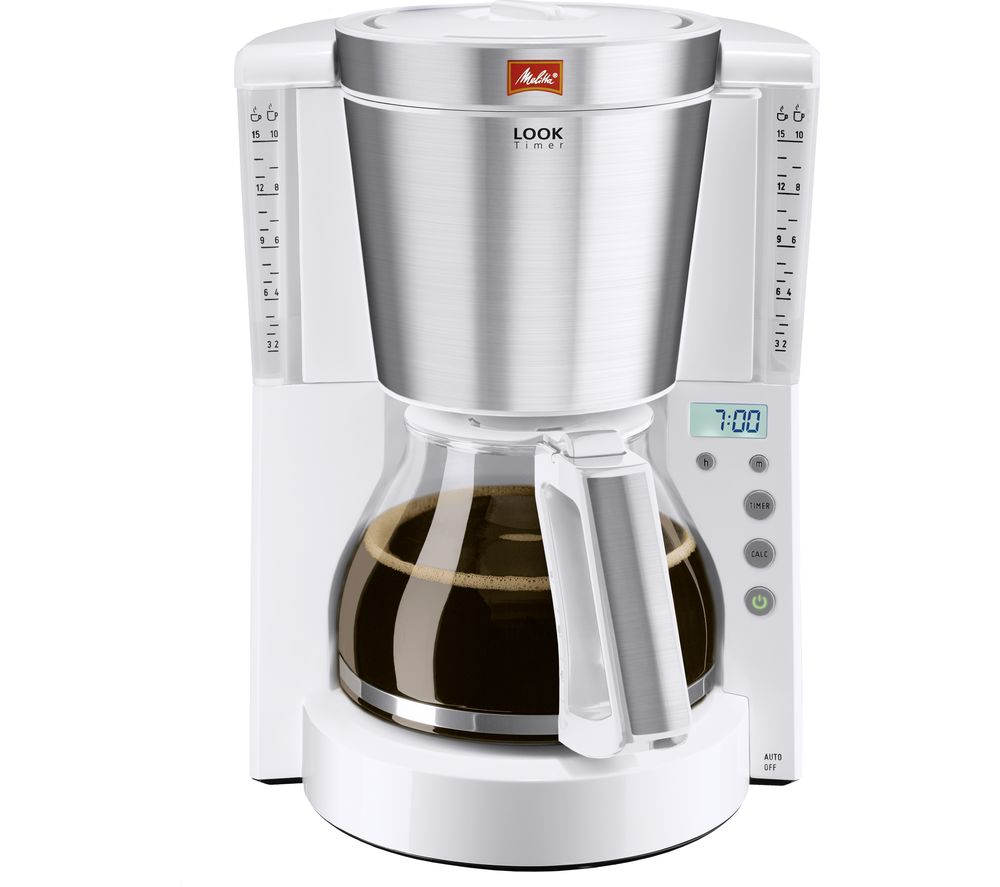 Buy MELITTA Look IV Timer Filter Coffee Machine - White Free Delivery Currys