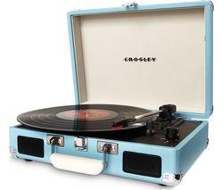 CROSLEY Cruiser Deluxe Bluetooth Wireless Turntable - Turquoise