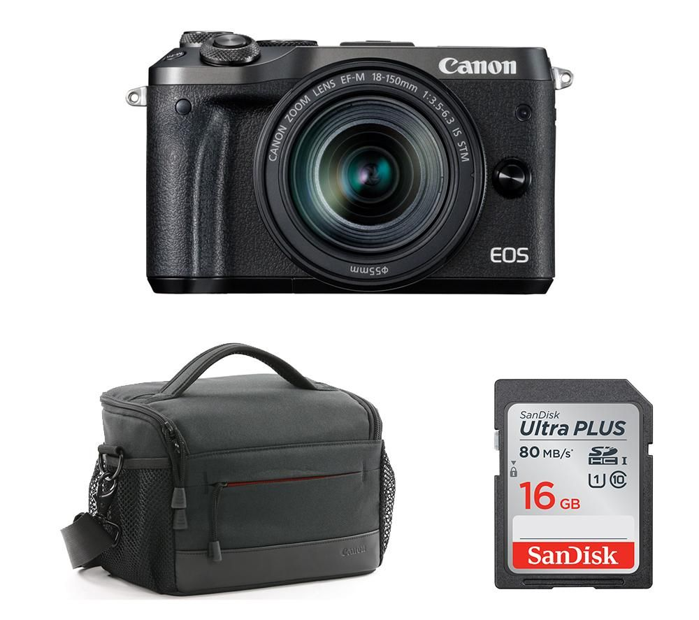 Image of CANON CANON EOS M6 Mirrorless Camera with Accessory Bundle