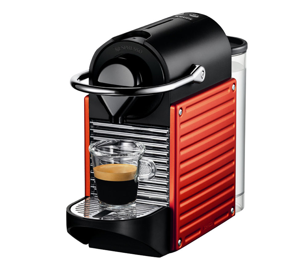 buy krups xn300640 nespresso pixie coffee machine red free delivery currys. Black Bedroom Furniture Sets. Home Design Ideas