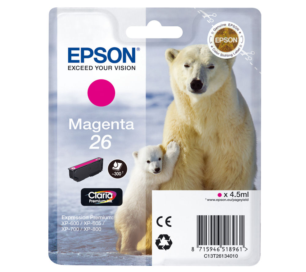 EPSON Polar Bear T2613 Magenta Ink Cartridge