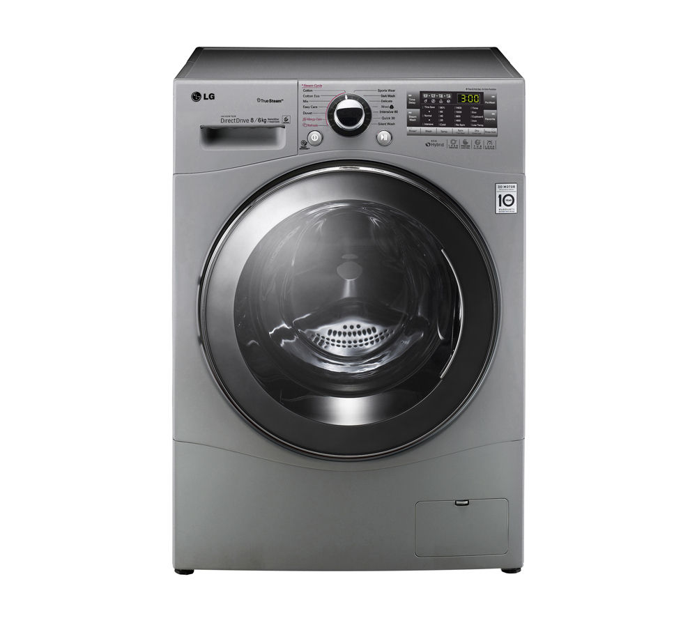 LG F14A8YD5 Washer Dryer - Silver, Silver