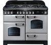RANGEMASTER Classic Deluxe 110 Dual Fuel Range Cooker - Royal Pearl & Chrome