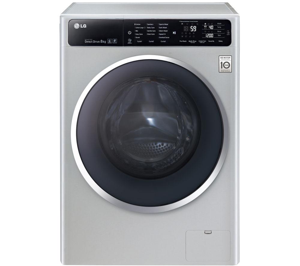 Buy LG F12U1TCN4 Washing Machine - Silver | Free Delivery ...