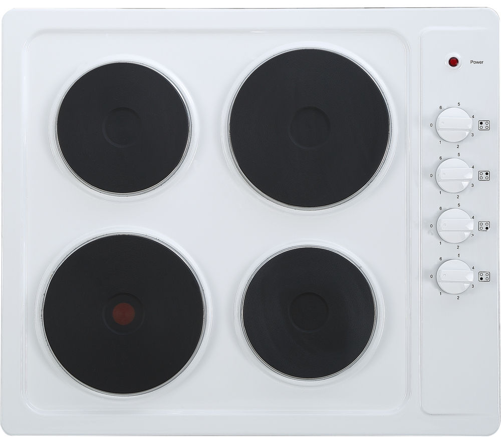 ESSENTIALS  CSPHOBW15 Electric Solid Plate Hob  White White