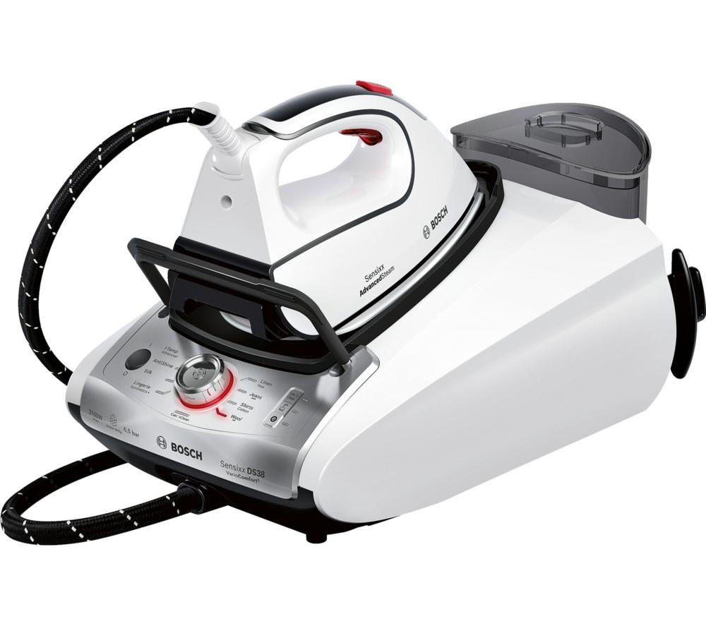 BOSCH TDS3872GB Steam Generator Iron - White & Silver