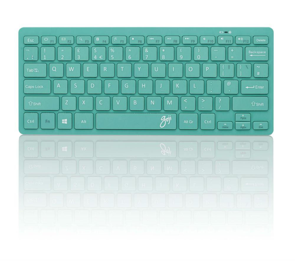 GOJI GKBMMTQ16 Wireless Keyboard - Turquoise