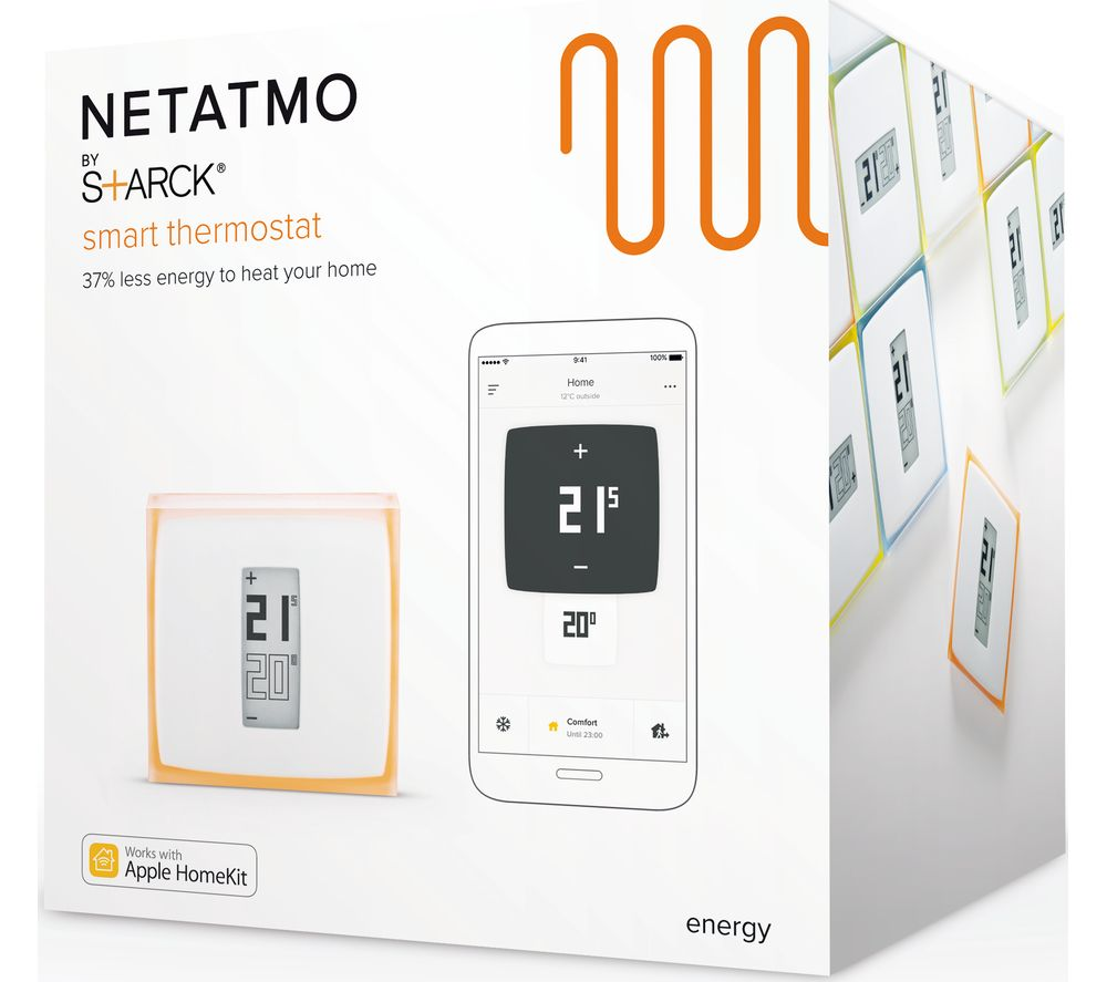 buy netatmo thermostat for smartphone with installation free delivery currys. Black Bedroom Furniture Sets. Home Design Ideas