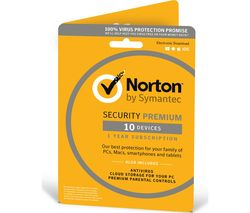 NORTON Security 2017 - 10 device for 1 year