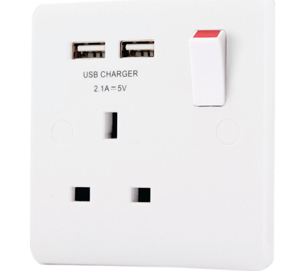 MASTERPLUG 321U-MP 1 Socket Plug Adapter with USB