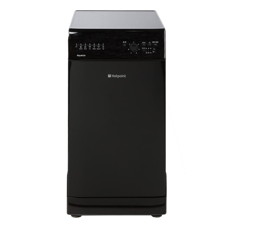 buy hotpoint sial11010k slimline dishwasher black free. Black Bedroom Furniture Sets. Home Design Ideas