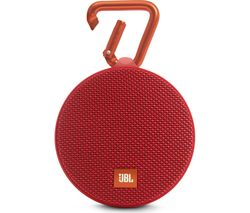 JBL Clip 2 Portable Wireless Speaker - Red