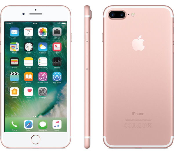 apple iphone 7 plus rose gold 128 gb deals pc world. Black Bedroom Furniture Sets. Home Design Ideas
