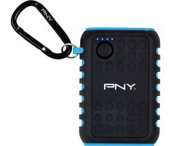 PNY Outdoor Charger 7800 mAh Portable Power Bank - Black & Blue