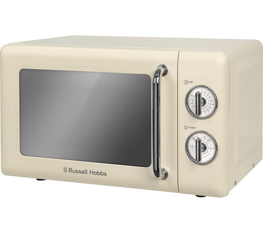 Image of RUSSELL HOBBS RHRETMM705C Solo Microwave - Cream, Cream