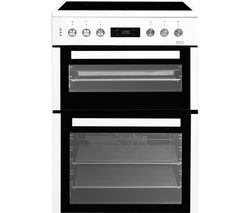 BEKO XDC6NT54W 60 cm Electric Ceramic Cooker - Black & Stainless Steel