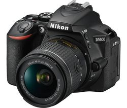 NIKON D5600 DSLR Camera with 18-55 mm f/3.5-5.6 Standard Zoom Lens - Black