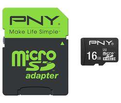 PNY High Performance Class 10 microSD Memory Card - 16 GB