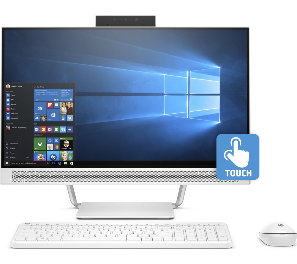 hp pavilion pro 24 a205na 24 touchscreen all in one pc deals pc world. Black Bedroom Furniture Sets. Home Design Ideas
