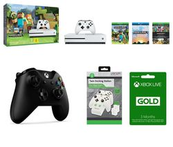MICROSOFT Xbox One S with Minecraft Favourites