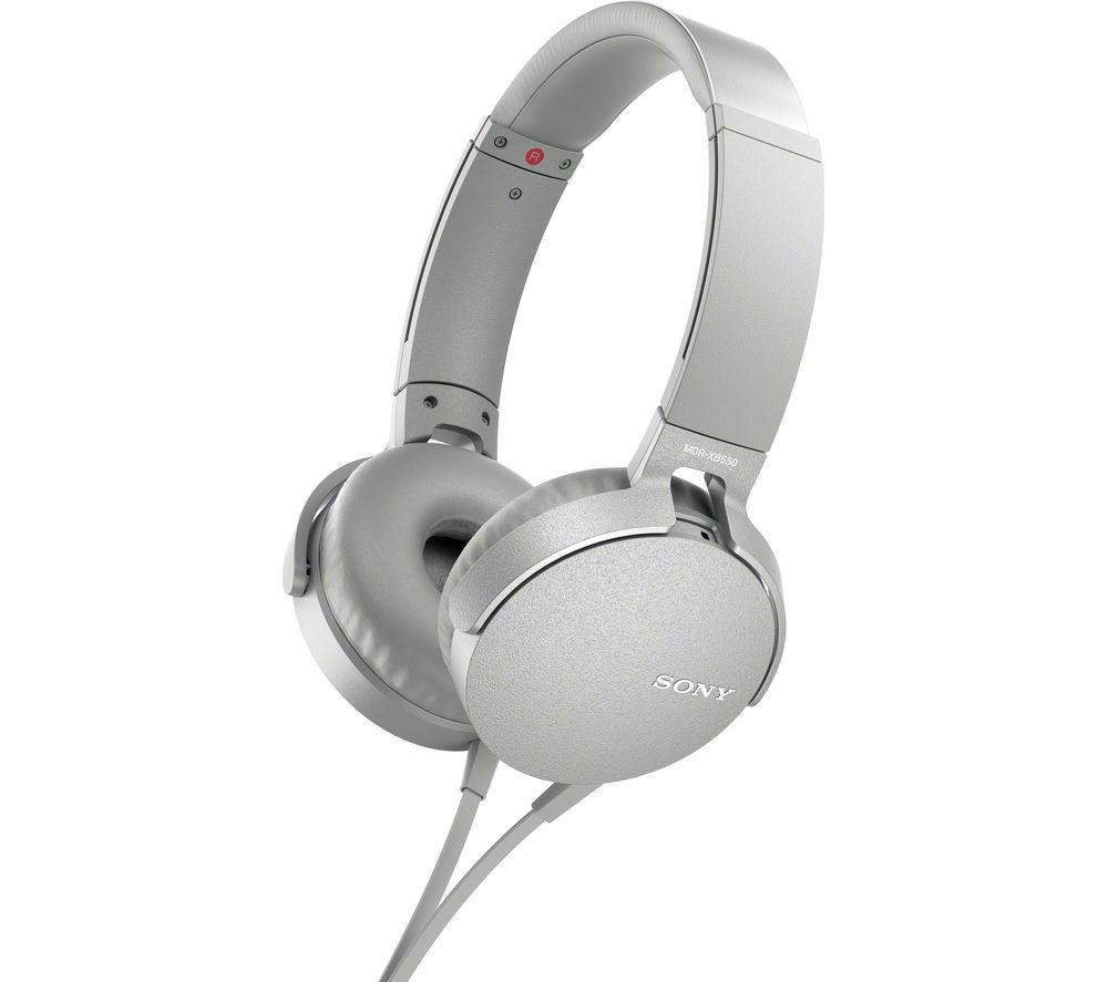 SONY Extra Bass MDR-XB550AP Headphones - White