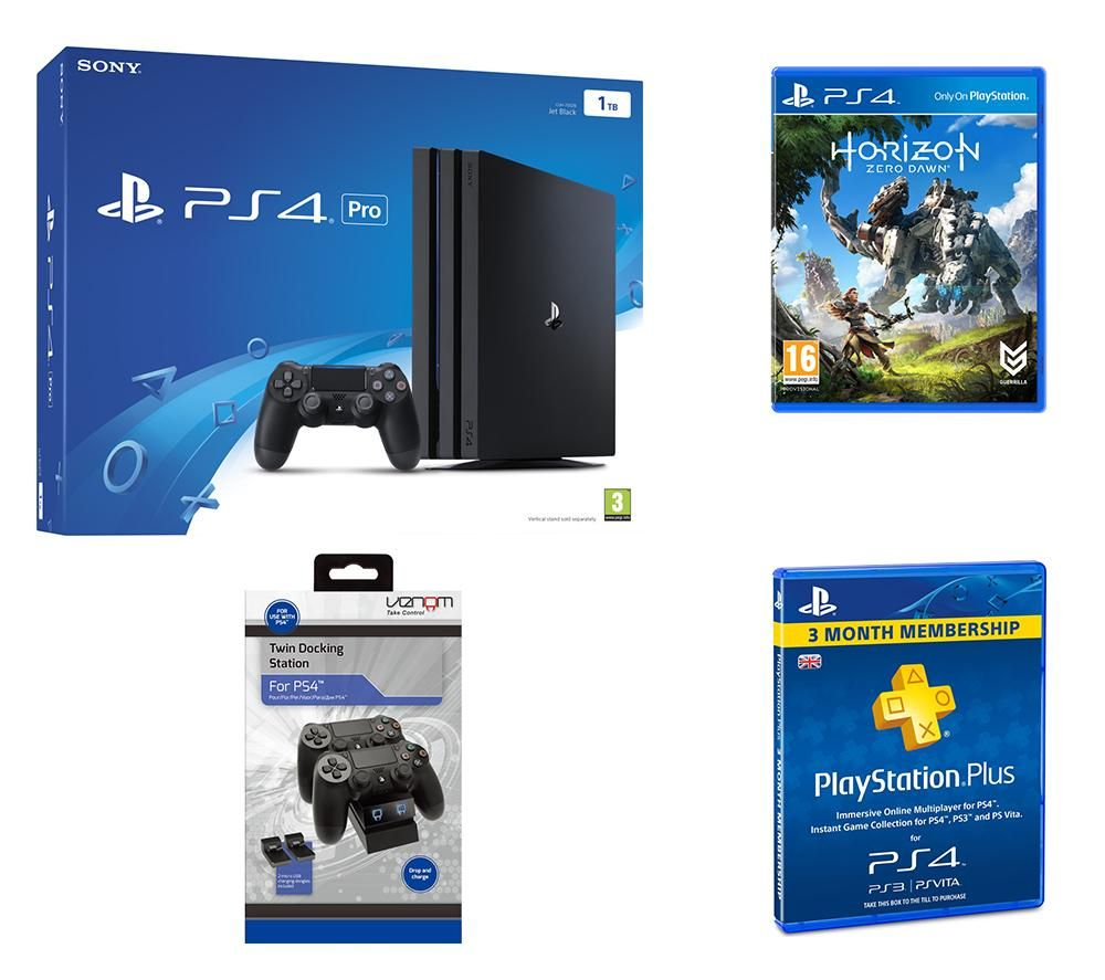 PLAYSTATION 4 PLAYSTATION 4 Pro Horizon Zero Dawn PlayStation Plus 3 Month Subscription & Accessory Bundle