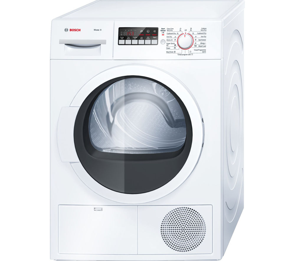 buy bosch maxx 8 wtb86300gb condenser tumble dryer white. Black Bedroom Furniture Sets. Home Design Ideas