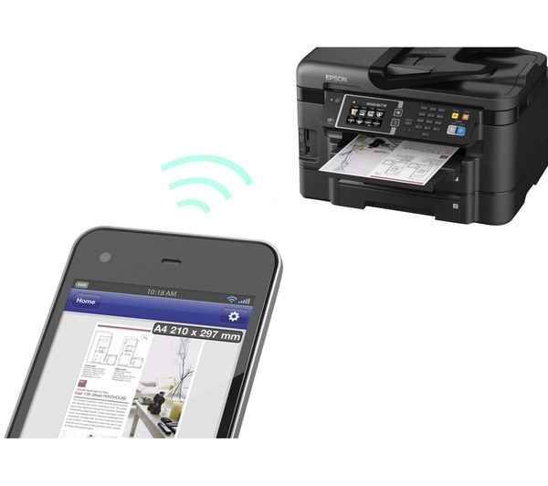 Image of EPSON WorkForce WF-3640DTWF All-in-One Wireless Inkjet Printer with Fax