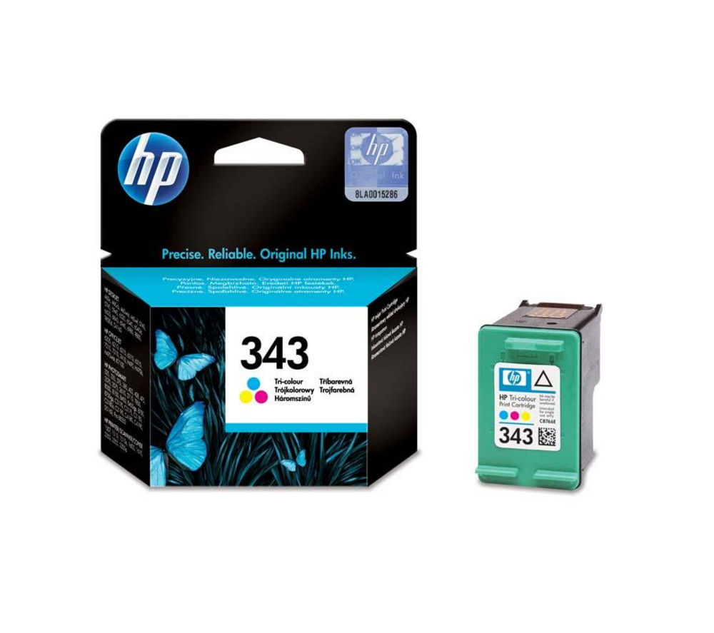 HP  343 Tri-colour Ink Cartridge.