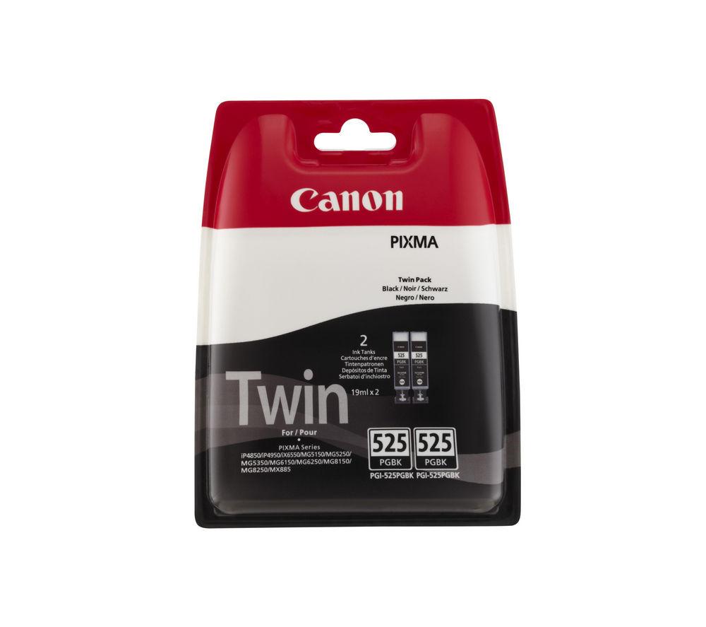 CANON PGI-525 Black Ink Cartridge - Twin Pack
