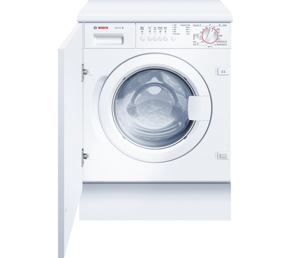 BOSCH  WIS24141GB Full-size Integrated Washing Machine - White +  KIV38X22GB Integrated Fridge Freezer