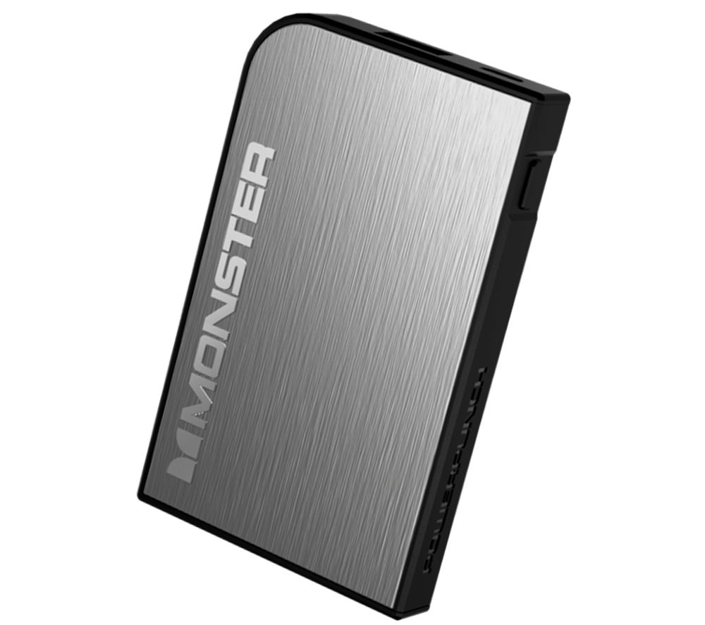MONSTER Mobile PowerCard Turbo Rechargeable Portable Battery Pack - Grey