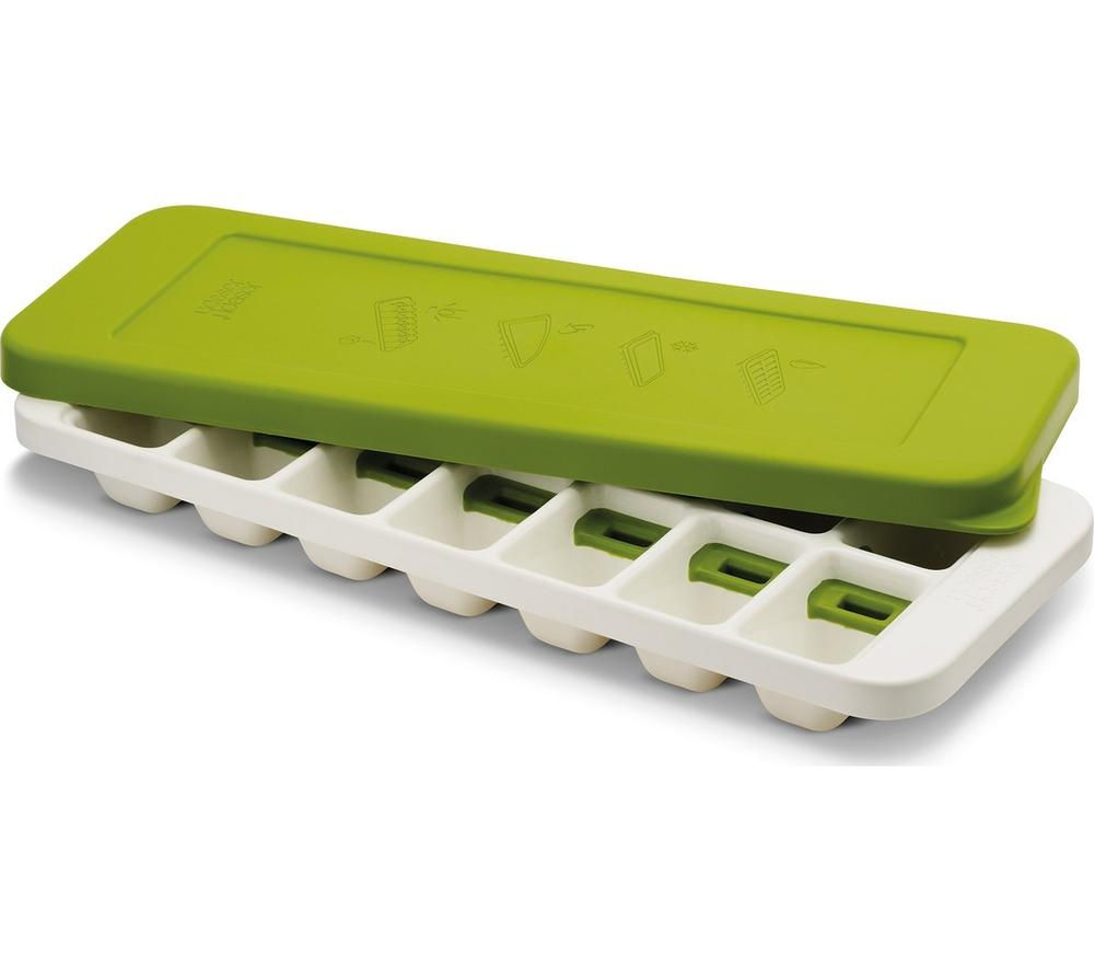 JOSEPH JOSEPH Quicksnap Plus Ice Cube Tray - White & Green