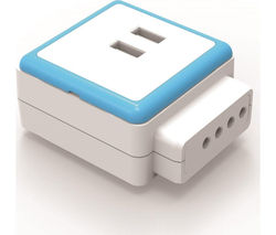 QUBIC PC-USB-234 2-Socket Plug Adapter with USB